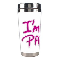 I Am The Party Typographic Design Quote Stainless Steel Travel Tumbler