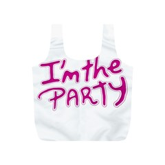 I Am The Party Typographic Design Quote Reusable Bag (s)