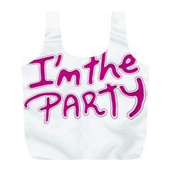 I Am The Party Typographic Design Quote Reusable Bag (L)