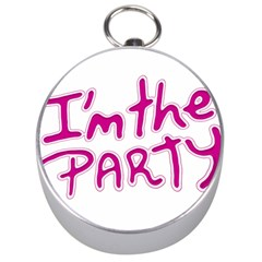 I Am The Party Typographic Design Quote Silver Compass