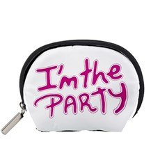 I Am The Party Typographic Design Quote Accessory Pouch (small)