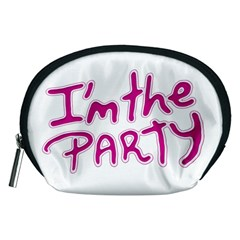 I Am The Party Typographic Design Quote Accessory Pouch (Medium)