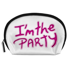 I Am The Party Typographic Design Quote Accessory Pouch (large)