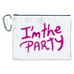 I Am The Party Typographic Design Quote Canvas Cosmetic Bag (xxl)