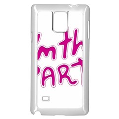 I Am The Party Typographic Design Quote Samsung Galaxy Note 4 Case (White)