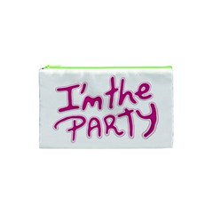 I Am The Party Typographic Design Quote Cosmetic Bag (XS)