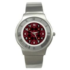 Cute Pretty Elegant Pattern Stainless Steel Watch (slim)