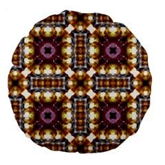 Cute Pretty Elegant Pattern 18  Premium Round Cushion