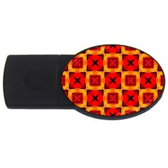 Cute Pretty Elegant Pattern 4gb Usb Flash Drive (oval)