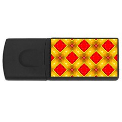 Cute Pretty Elegant Pattern 4gb Usb Flash Drive (rectangle)