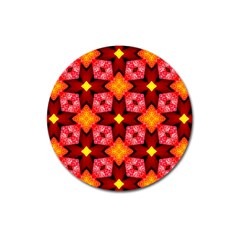 Cute Pretty Elegant Pattern Magnet 3  (round)