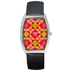 Cute Pretty Elegant Pattern Tonneau Leather Watch