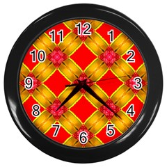 Cute Pretty Elegant Pattern Wall Clock (black)