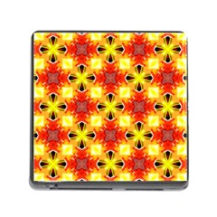 Cute Pretty Elegant Pattern Memory Card Reader With Storage (square)
