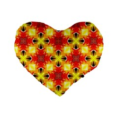 Cute Pretty Elegant Pattern 16  Premium Heart Shape Cushion