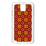 Cute Pretty Elegant Pattern Samsung Galaxy Note 3 N9005 Case (White) Front