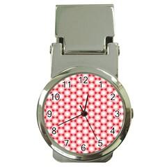 Cute Pretty Elegant Pattern Money Clip With Watch