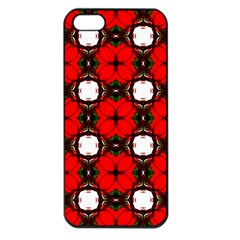 Cute Pretty Elegant Pattern Apple Iphone 5 Seamless Case (black)