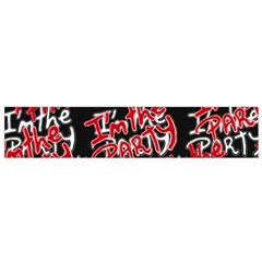 I am the Party Text Quote Flano Scarf (Small)