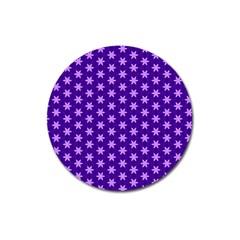 Cute Pretty Elegant Pattern Magnet 3  (round)