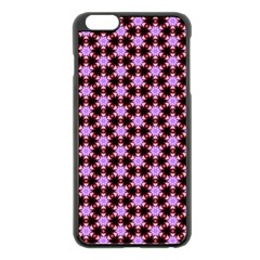 Cute Pretty Elegant Pattern Apple iPhone 6 Plus Black Enamel Case