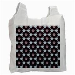 Cute Pretty Elegant Pattern White Reusable Bag (two Sides)