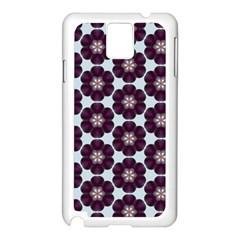 Cute Pretty Elegant Pattern Samsung Galaxy Note 3 N9005 Case (White)