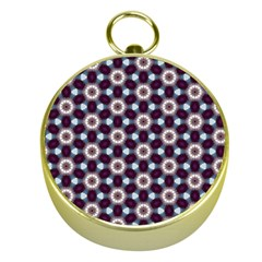 Cute Pretty Elegant Pattern Gold Compass
