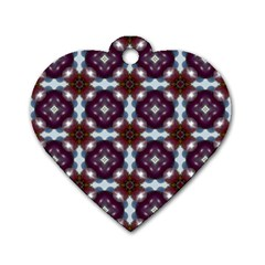 Cute Pretty Elegant Pattern Dog Tag Heart (two Sided)