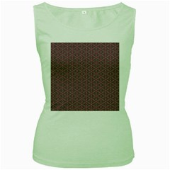 Cute Pretty Elegant Pattern Women s Tank Top (green)