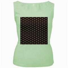 Cute Pretty Elegant Pattern Women s Tank Top (green)