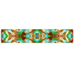 Colorful Modern Pattern Collage Flano Scarf (large)