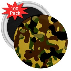 Camo Pattern  3  Button Magnet (100 Pack)
