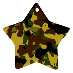 Camo Pattern  Star Ornament (two Sides)