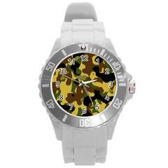 Camo Pattern  Plastic Sport Watch (large)