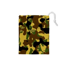 Camo Pattern  Drawstring Pouch (Small)