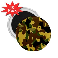 Camo Pattern  2 25  Button Magnet (10 Pack)