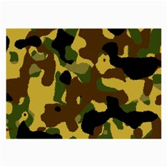 Camo Pattern  Glasses Cloth (large, Two Sided)