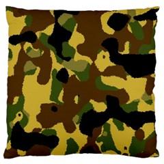Camo Pattern  Large Cushion Case (single Sided)
