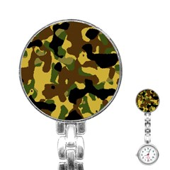 Camo Pattern  Stainless Steel Nurses Watch