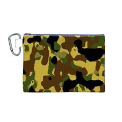Camo Pattern  Canvas Cosmetic Bag (Medium)