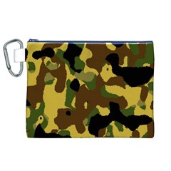 Camo Pattern  Canvas Cosmetic Bag (XL)