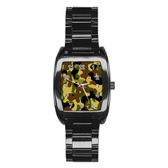 Camo Pattern  Stainless Steel Barrel Watch