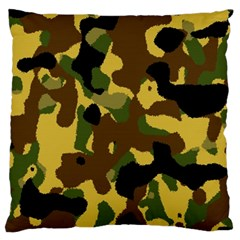 Camo Pattern  Large Flano Cushion Case (One Side)
