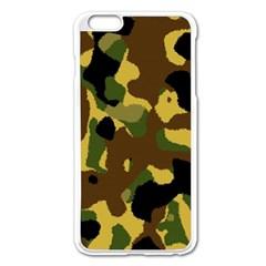 Camo Pattern  Apple iPhone 6 Plus Enamel White Case