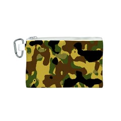 Camo Pattern  Canvas Cosmetic Bag (Small)