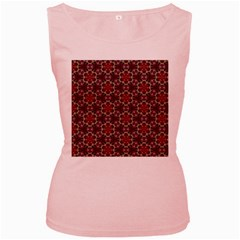 Cute Pretty Elegant Pattern Women s Tank Top (pink)