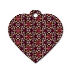 Cute Pretty Elegant Pattern Dog Tag Heart (two Sided)