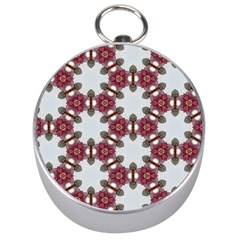 Cute Pretty Elegant Pattern Silver Compass