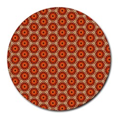 Cute Pretty Elegant Pattern 8  Mouse Pad (round)